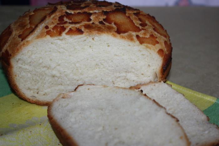 Леопардовый хлеб - домашний белый хлеб с хрустящей корочкой