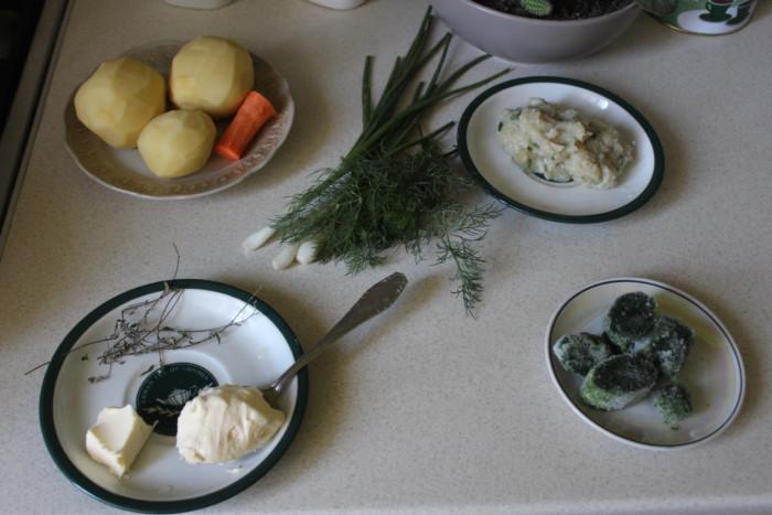 Сливочный суп со шпинатом замороженным