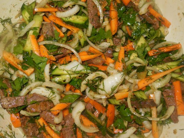 Маринованная говядина по-корейски