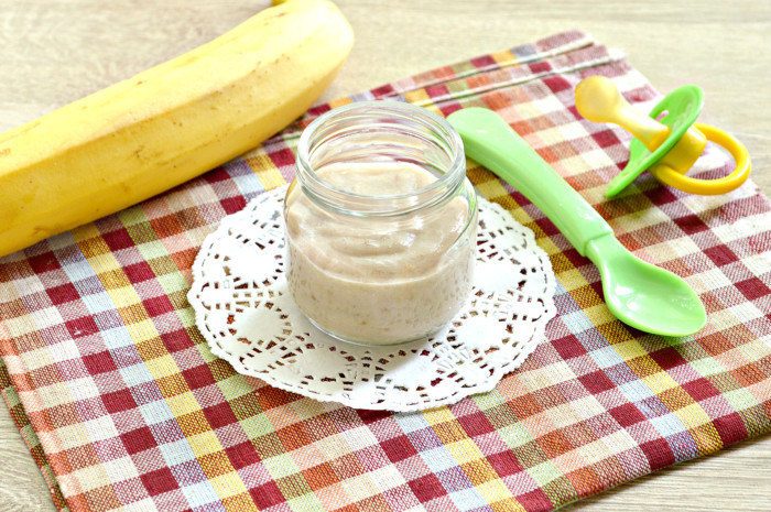 Банановое пюре для грудничка в блендере