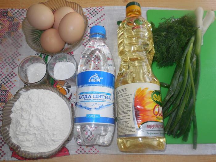 Пресные лепешки с начинкой из яйца и лука