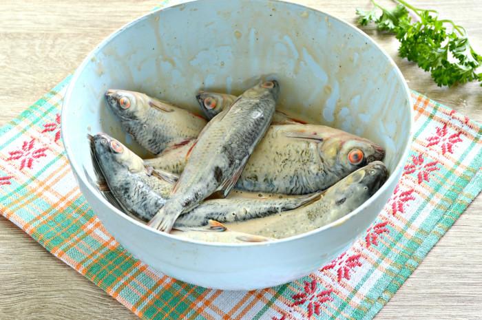 Мелкая речная рыба в духовке в фольге - вкусно и просто