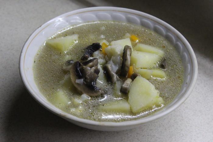 Сливочный суп с грибами и цветной капустой - вкусный и нежный