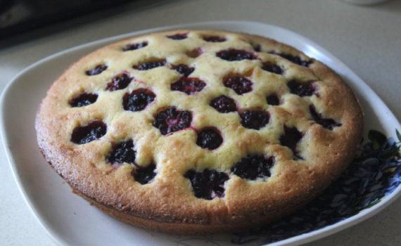 Венский пирог с ежевикой - простой и вкусный