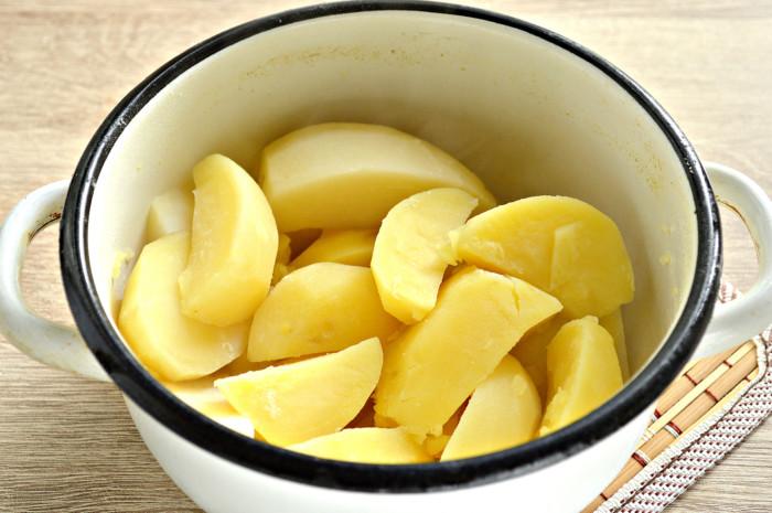 Картофельное пюре с зеленью - необычное, красивое и вкусное
