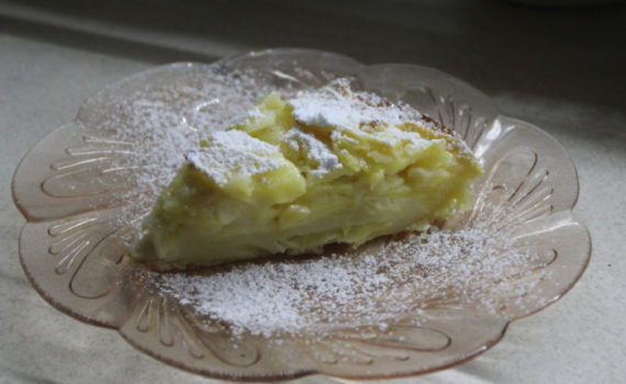 Итальянский пирог с яблоками и имбирем на молоке - быстрый, простой и вкусный