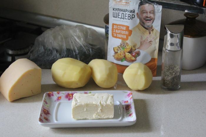 Печеный картофель с сыром - праздничный гарнир из картошки