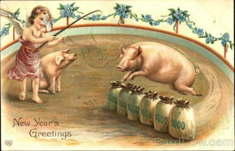 Открытки к году свиньи ссср, надписями