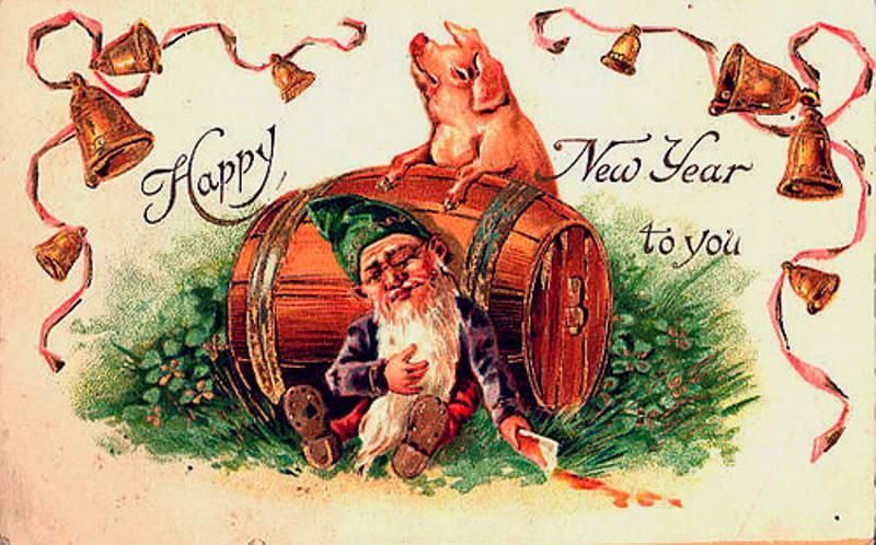 Советские новогодние картинки с годом свиньи