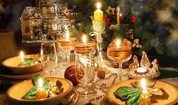 Сервировка новогоднего стола 2019 - идеи оформления в год Свиньи или Кабана