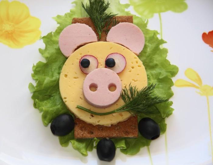 Символ 2019 года - Желтая Земляная Свинья или Кабан - идеи оформление застолья