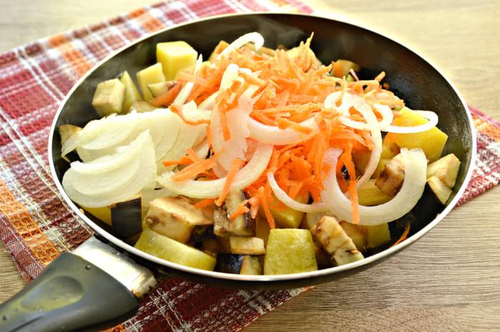 Тушеные овощи с грибами быстрого приготовления