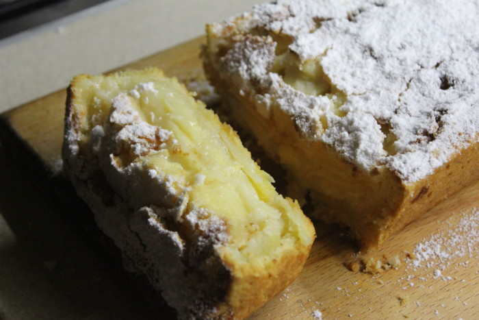 Цветаевский пирог с яблоками и сметанной заливкой