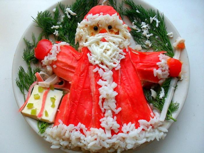 как украсить салаты для новогоднего стола
