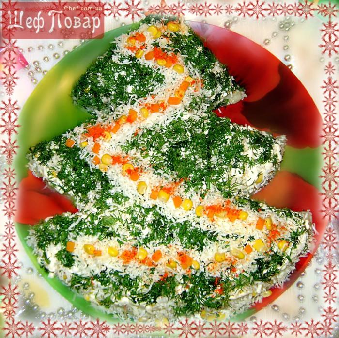 оформление салатов на новогодний стол