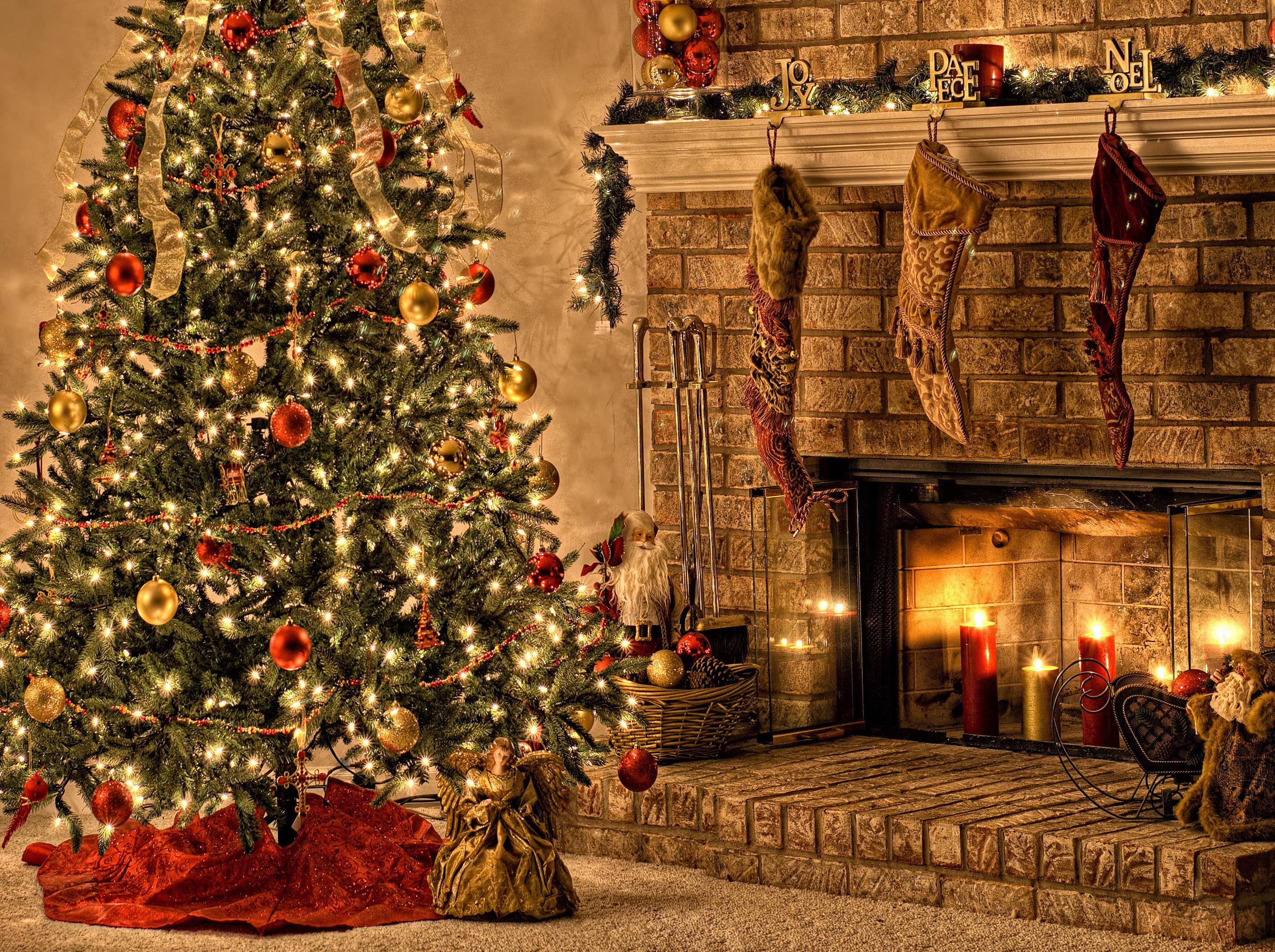 Широкоформатные картинки елка новогодняя