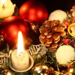 Большие обои на рабочий стол - Новогодние Свечи