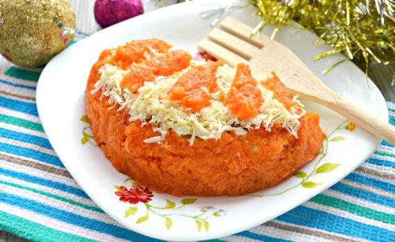 Салат Апельсиновая долька - с курицей и сыром