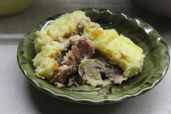 Английский пастуший пирог с фаршем и грибами - картофельная запеканка или пирог без теста