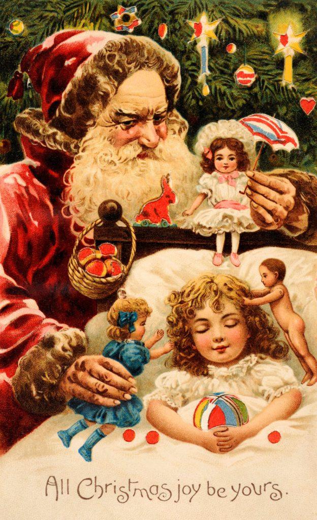 Милые и красивые старинные открытки с Новым годом и Рождеством
