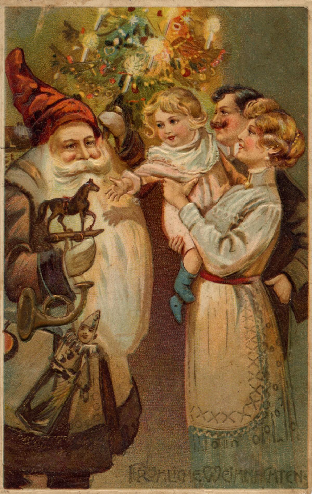 С новым годом и рождеством открытки старые