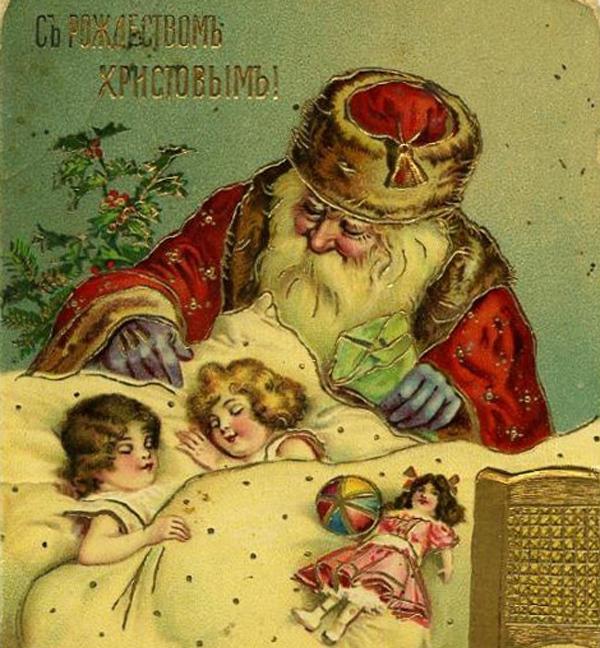 Красивые ретро-открытки с Рождеством