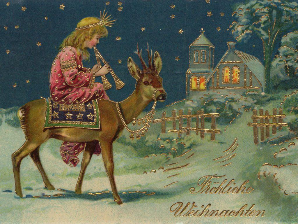 Лучшие старинные открытки с Рождеством