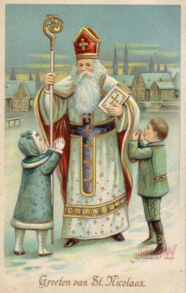 Красивые старинные открытки на Рождество