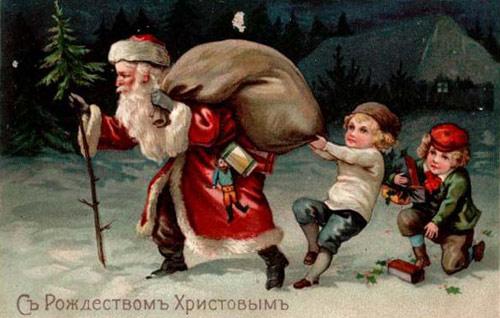 Рождественские старинные картинки на Рождество