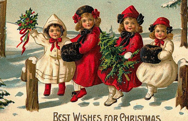 Лучшие старинные открытки с Рождеством на английском