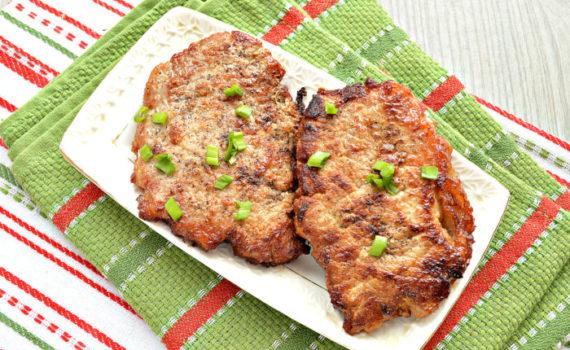 Эскалоп из свинины на сковороде - правильный, вкусный и сочный