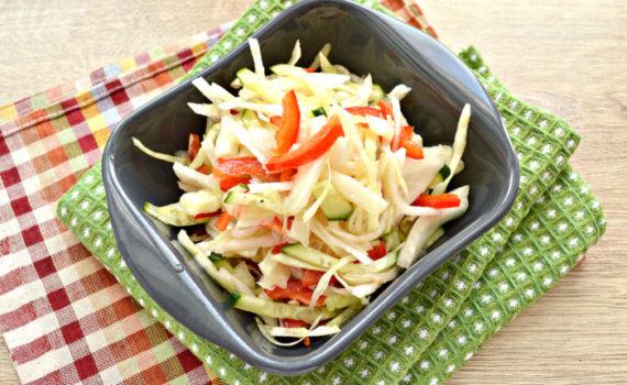 Овощной салат из дайкона - простой и вкусный