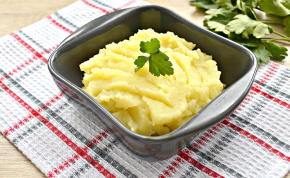 Картофельное пюре на курином бульоне