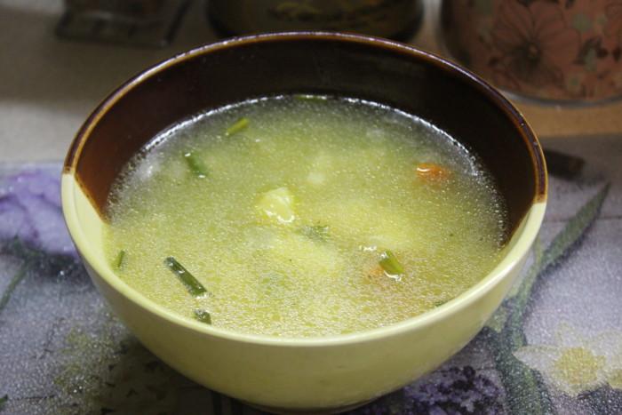 Гороховый суп на сливочном масле вегеарианский