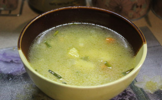 Вкусный гороховый суп без мяса, с картошкой и макаронами