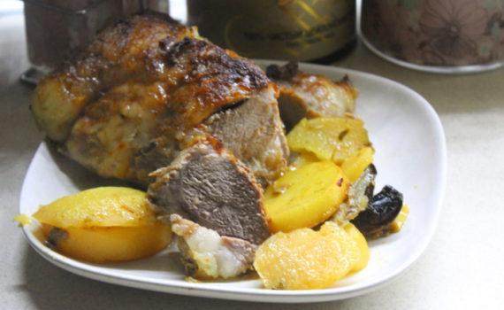 Жаркое из свинины с картошкой и грибами вешенки в духовке