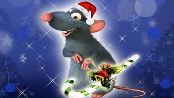 Новогодние нарисованные картинки с крысами и мышами