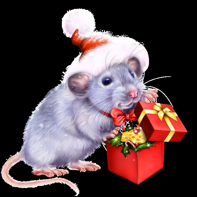 Новогодние нарисованные картинки с мышками и крысами