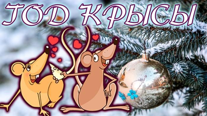 Интересные открытки с крысами на Новый год в хорошем качестве