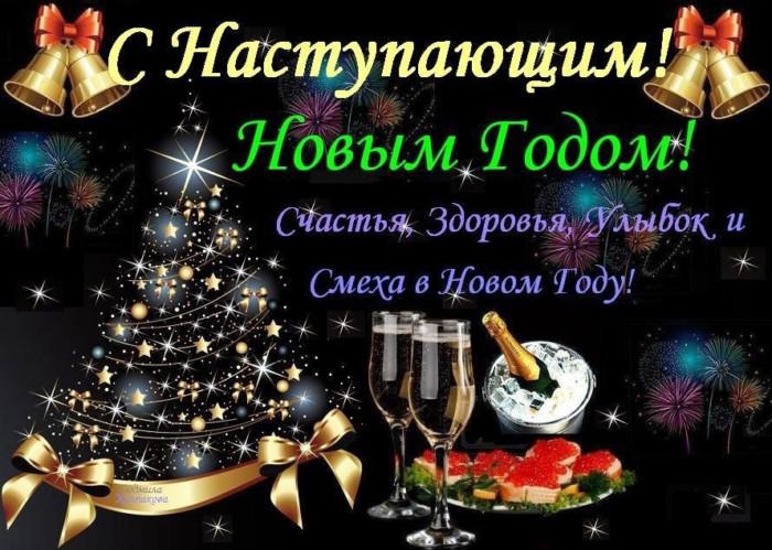 Новогодние открытки с наступающим годом Крысы - короткое поздравление