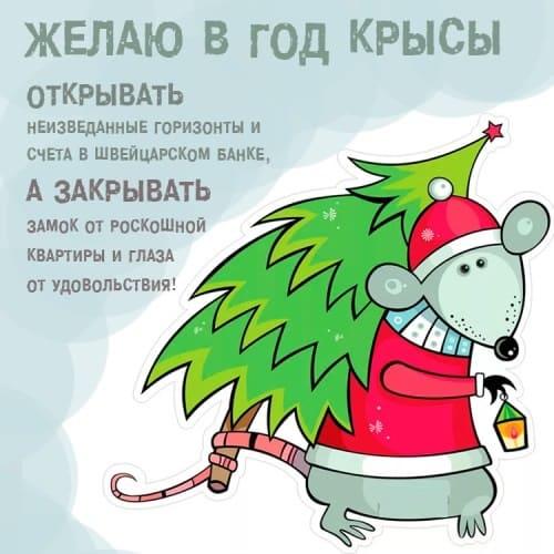 Смешные открытки с годом Крысы