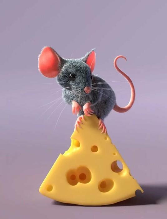 Стильные прикольные обои с новогодними крысами и мышками на телефон