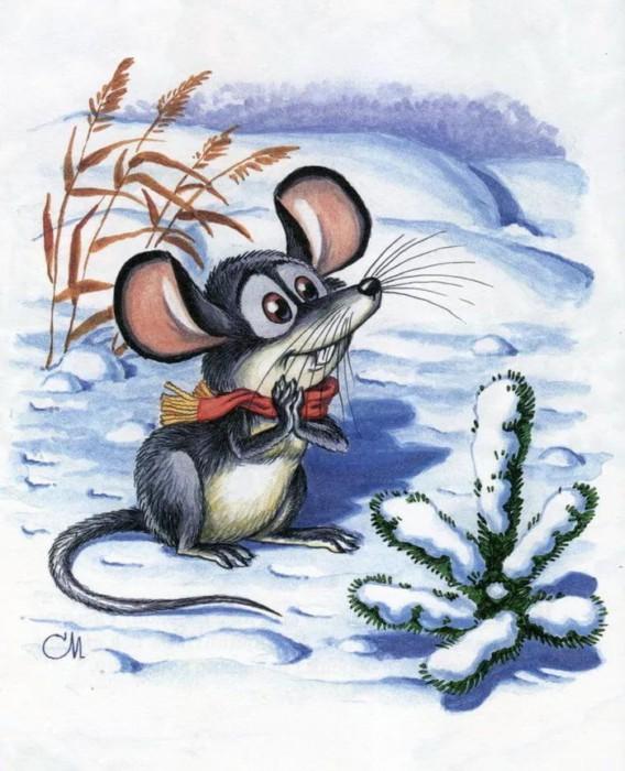 Новогодние обои на телефон на год Крысы