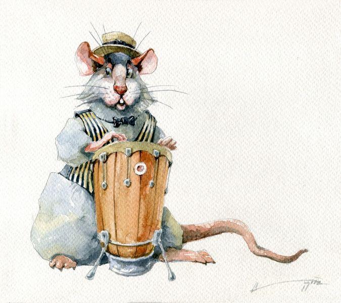 Новогодние нарисованные картинки год Крысы