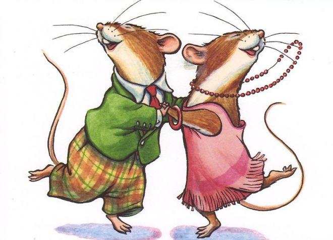 Стильные прикольные обои с новогодними крысками и мышками на телефон