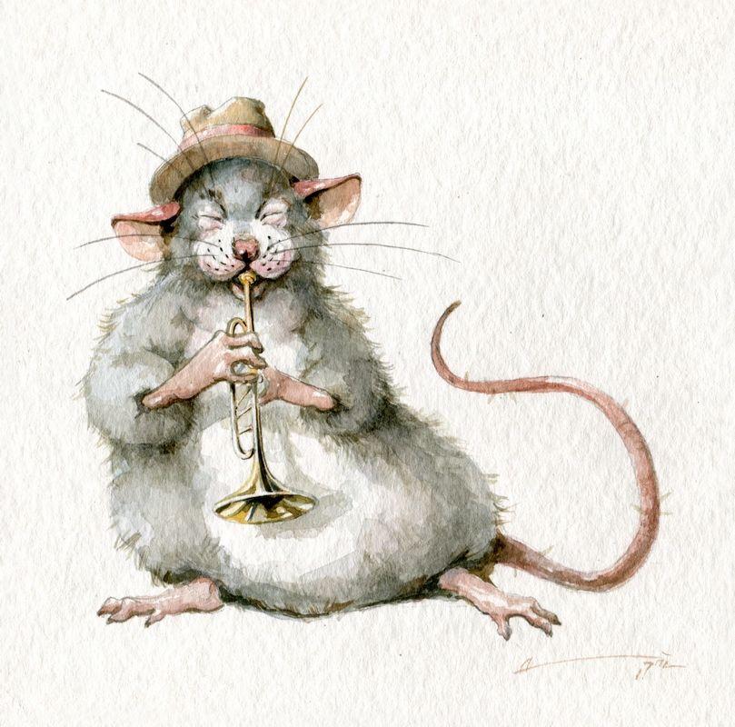 Новогодние нарисованные картинки на год Крысы